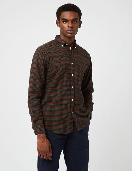 Portuguese Flannel Coimbra Check Shirt - Red