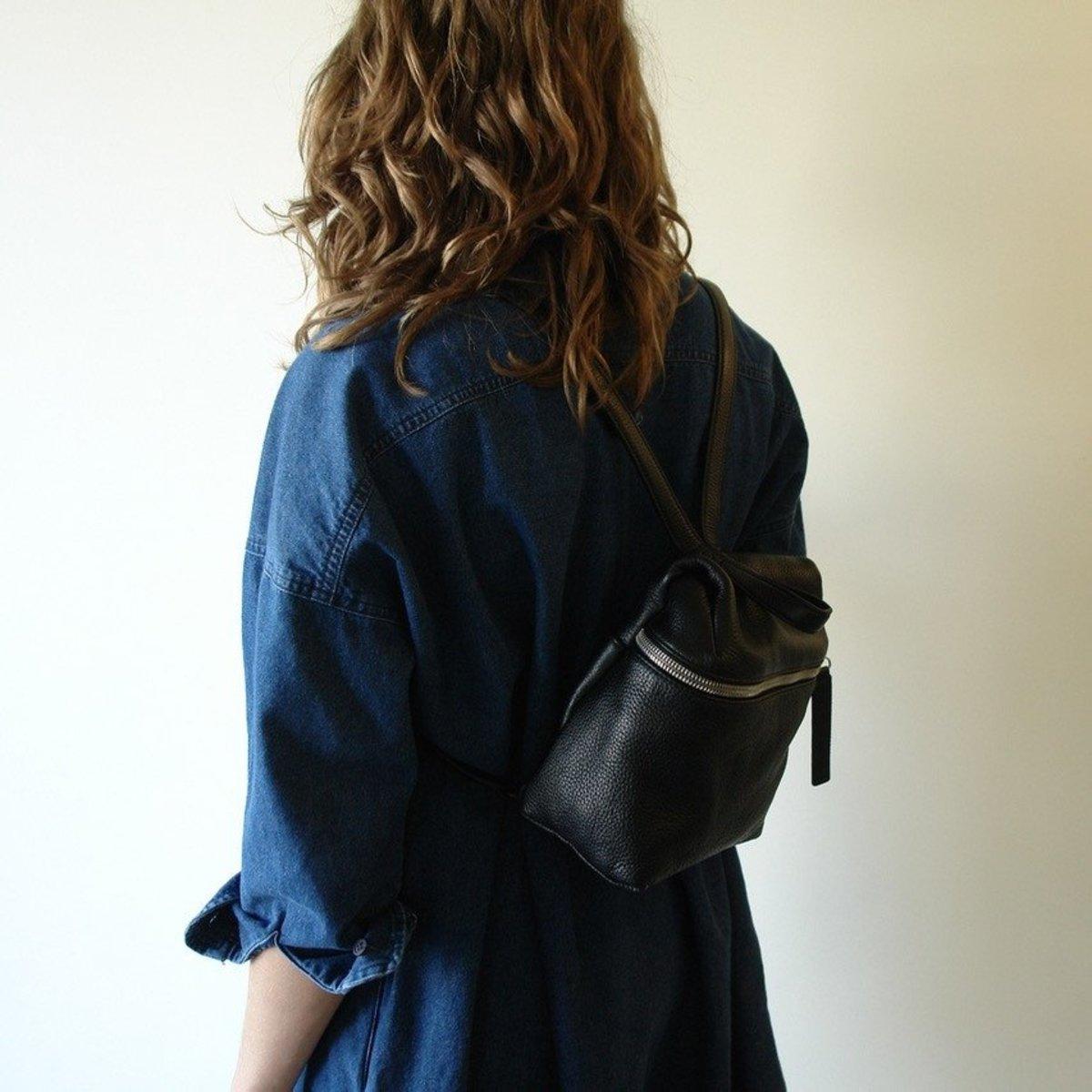 9b87720194 KARA small pebble leather backpack