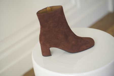 [Pre-Loved] Venice Boots Velor Henna