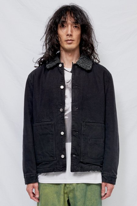 Schnayderman's Denim Sherpa Jacket - Black