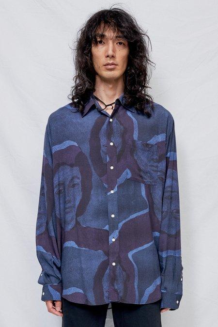 Schnayderman's Lady Print Shirt - Dark Blue