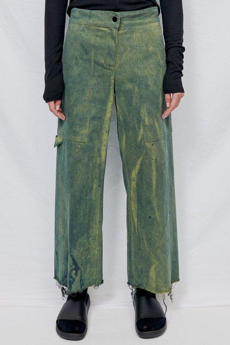 Assembly Overdye Denim Simple Pant - Green