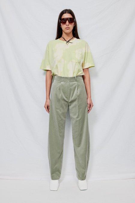 Theopen Product Velvet Rounding Pants - Khaki