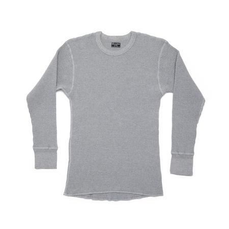 Homespun Knitwear Crew Thermal - Grey Melange