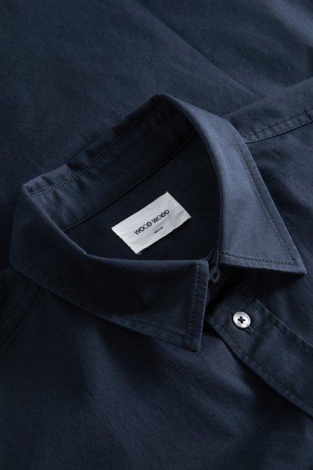 Wood Wood Avenir Twill Shirt - Navy