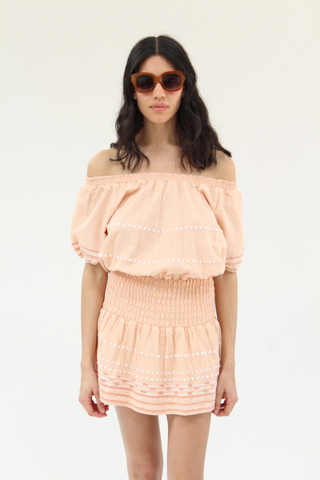 Piper Hand Embroidered Dress Peony