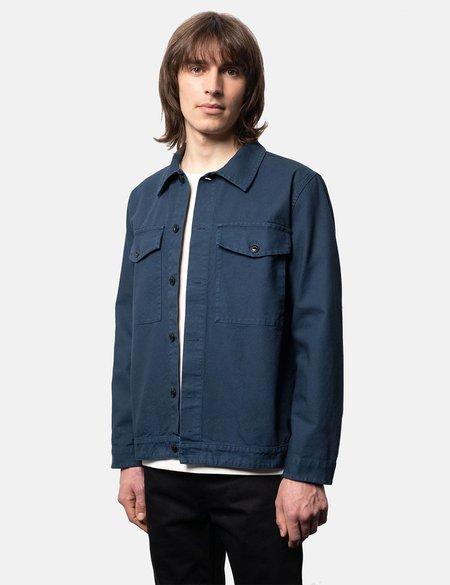 Nudie Jeans Colin Canvas Overshirt - Indigo Blue