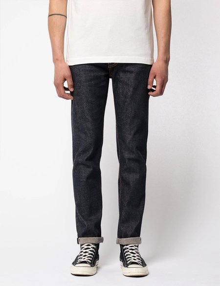 Nudie Jeans Lean Dean Jeans Slim Fit - Dry True Selvage Blue