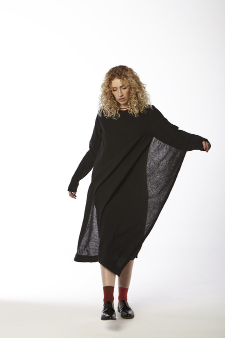 Uzi NYC Cape Dress