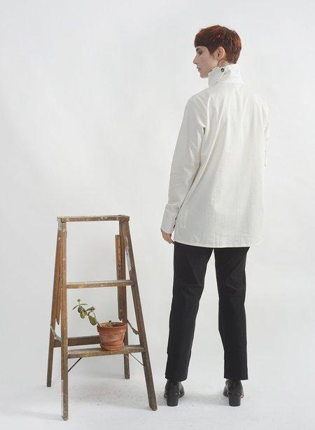 Meg Wrap Collar Shirt - Ivory
