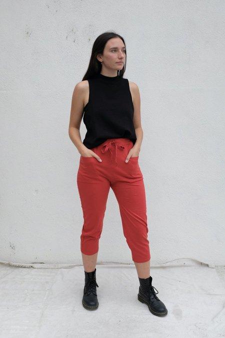 Stateside Heavy Cotton Jersey Dropcrotch Pant - Brick