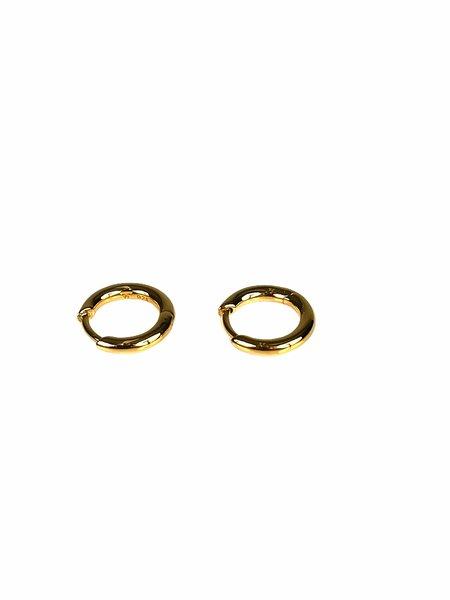 Tom Wood SMALL HOOP EARRINGS - Gold
