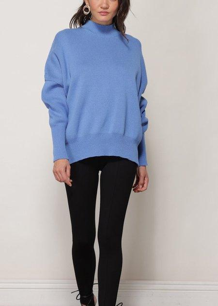 Line & Dot  Hannah Oversized Sweater - Blue