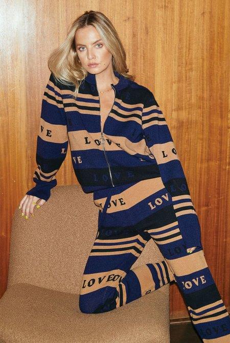 NEVER FULLY DRESSED True Love Blues Zip Knit Cardigan