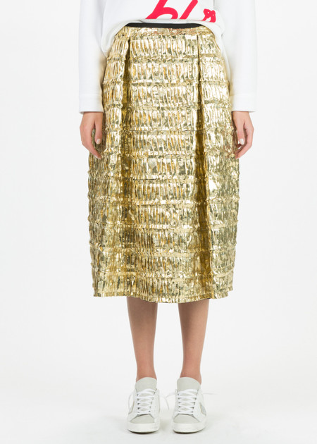 Odeeh Shimmer Pleat Skirt