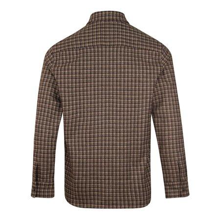 APC Justin Check Overshirt - Brown