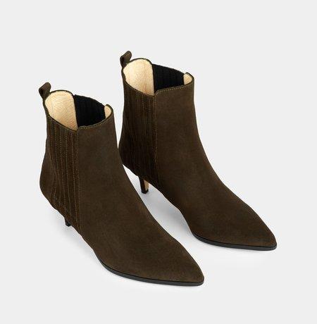 Ivylee Copenhagen Skylar Split boot - Army Green
