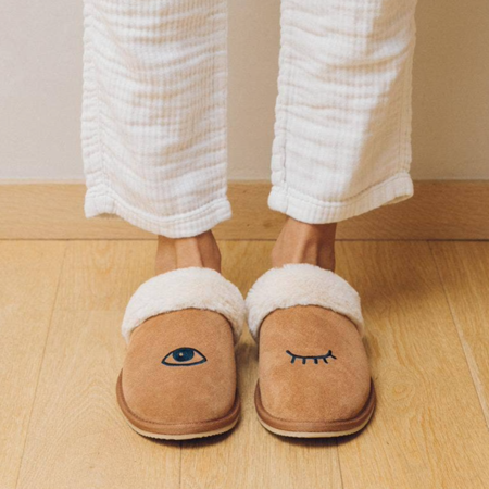 Soludos Wink Cozy Slippers - Tan