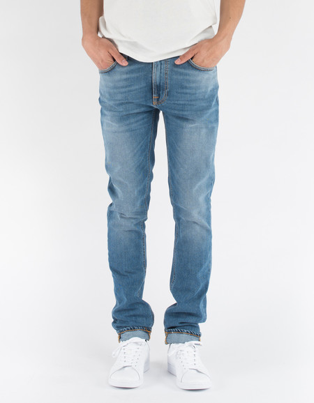 Nudie Lean Dean Indigo Spirit Washed Indigo