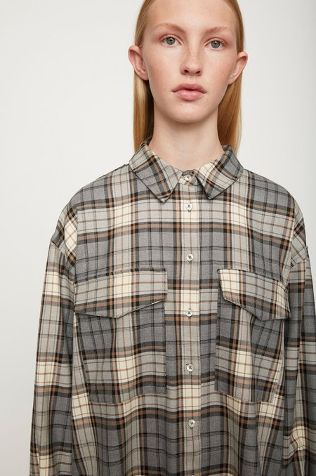 Just Female Dante Shirt - Tannin Plaid