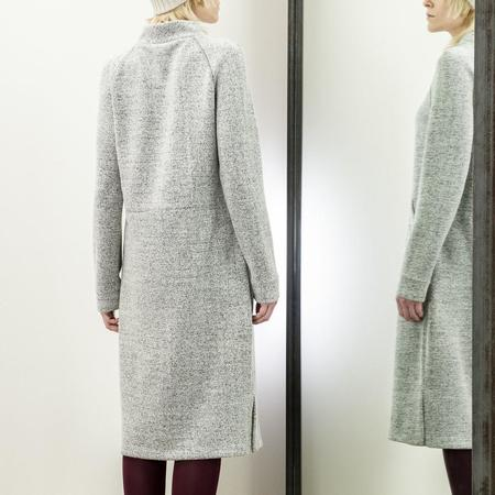 Jude Clothing Riverside Dress - Grey Herringbone Boucle