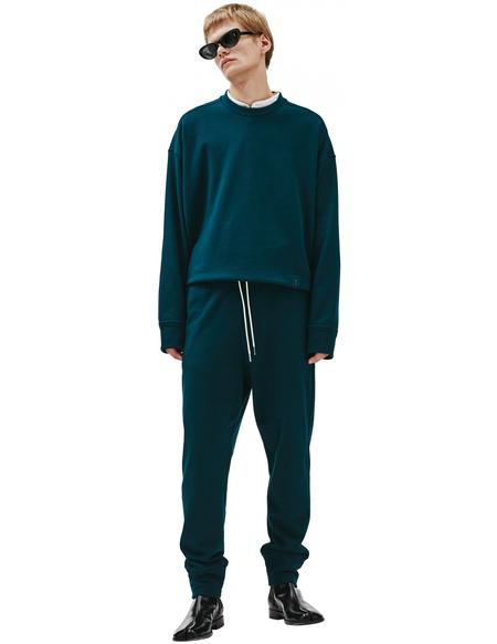Jil Sander J Plus Embroidered Cotton Sweatpants - green