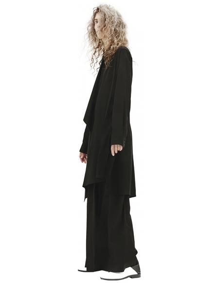 Y's Front Flap Blouse - Black
