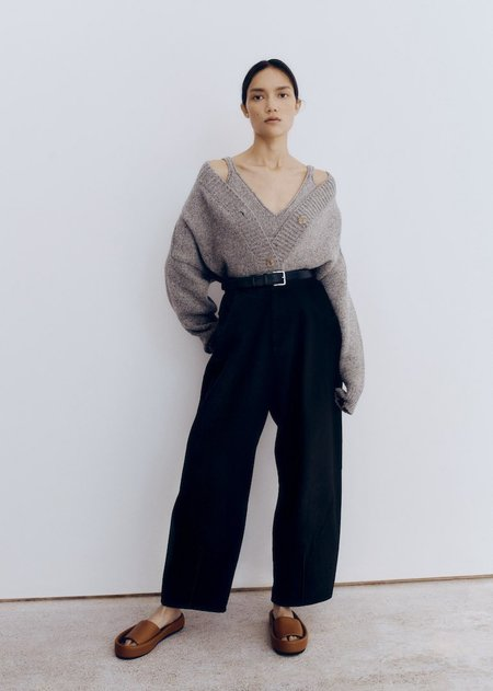 Monica Cordera Curved Leg Pants - Black