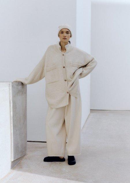 Monica Cordera  Eco Wool Polo Jacket - Natural