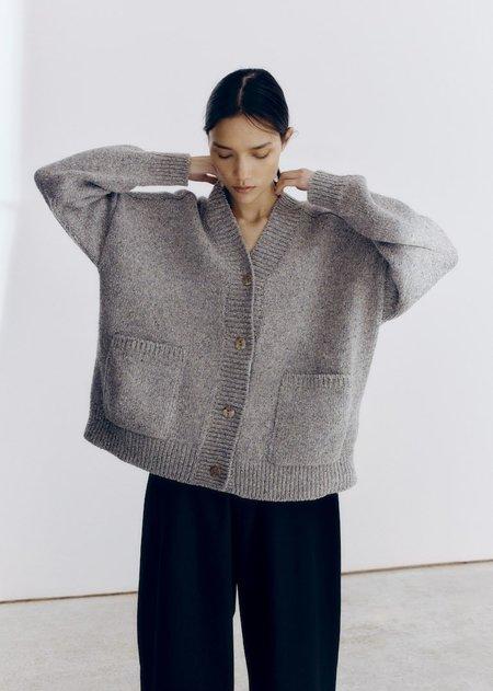 Monica Cordera Soft Wool Cardigan - Grey