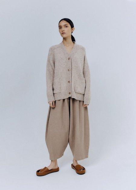 Monica Cordera Soft Wool Cardigan - Taupe