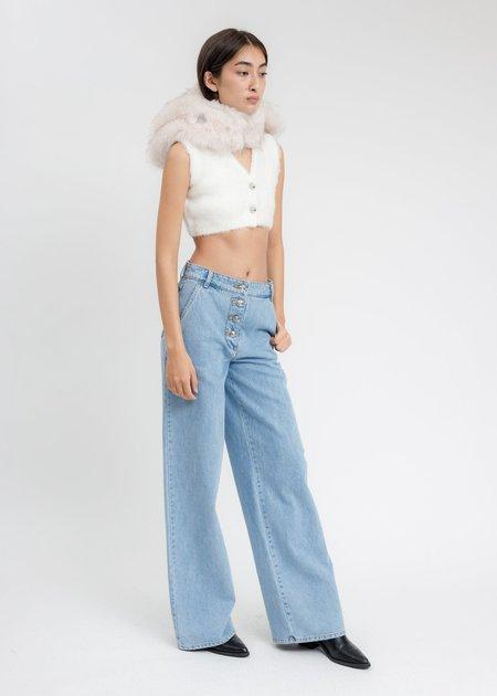 we11done Wide Denim Pants - Blue