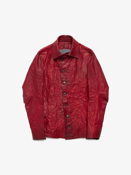 Desh M Red Stritches Leather Jacket