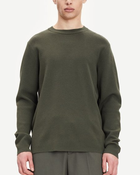Samsøe & Samsøe Gunan Crew Neck 10490 Knitwear sweater - Deep Depths