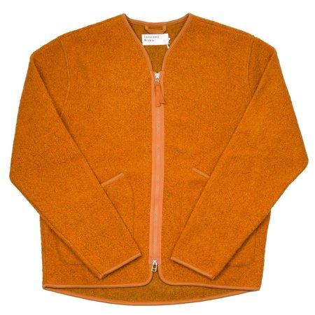 Universal Works Zip Liner Tibet Fleece Jacket - Orange