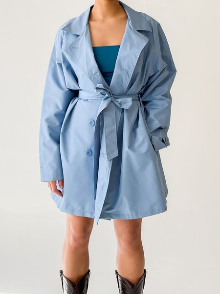 vintage Melissa Powder Blue Wrap Coat - blue