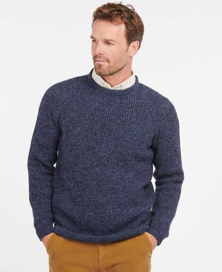 Barbour Horseford Crew Knit - Navy