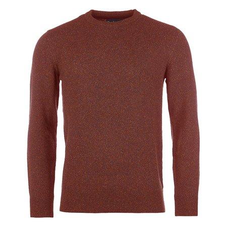 BARBOUR Tisbury Crew Neck Wool Sweater - Brick Red