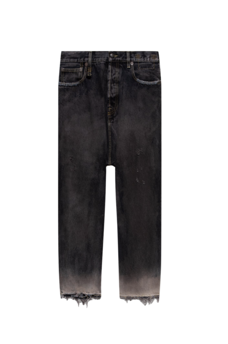 R13 Tailored Drop Jeans - Faded Black