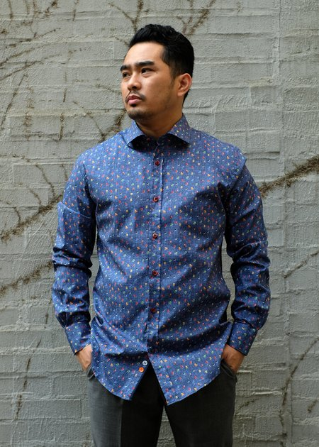 A Fish Named Fred Chairs Shirt - Blue Multi