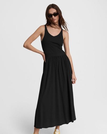 Rag & Bone DANCER TANK DRESS - black