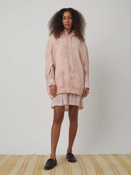 Raquel Allegra Vintage Fleece Poncho - Blush Cloud