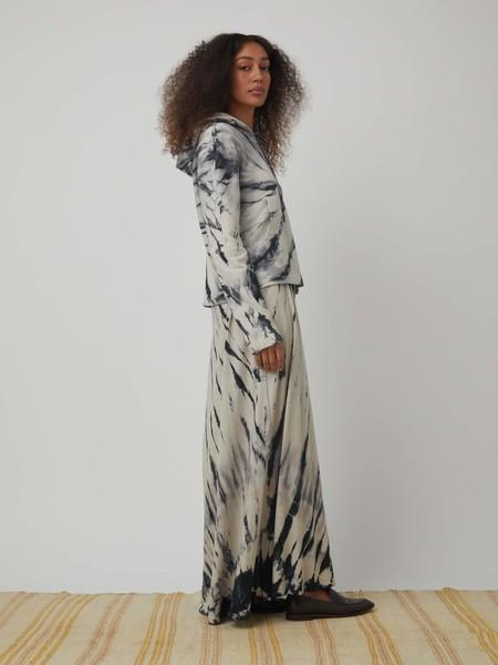 Raquel Allegra Shadow Spiral Jersey Crop Hoodie - Shadow Spiral