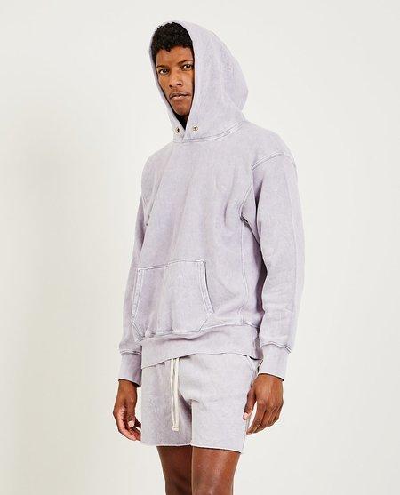 Les Tien Cropped Hoodie - Lavender Stone