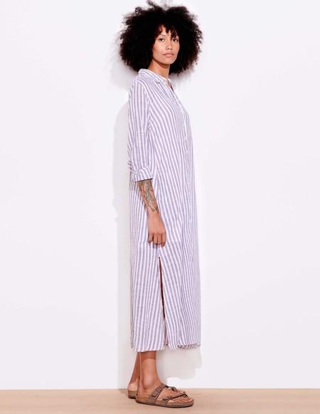 Sundry Stripe Shirt Dress - Optic White