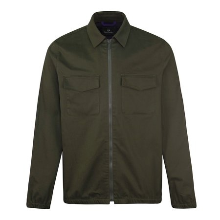 PS Paul Smith Technical Zip Overshirt - Khaki