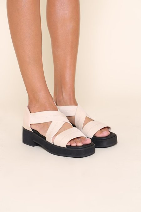 """INTENTIONALLY __________."" KRISTA sandals - Sand"