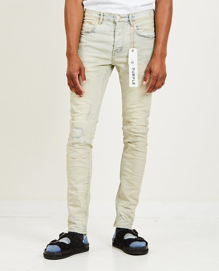 Purple Brand Slim Fit Jeans - Super Light Oil Repair