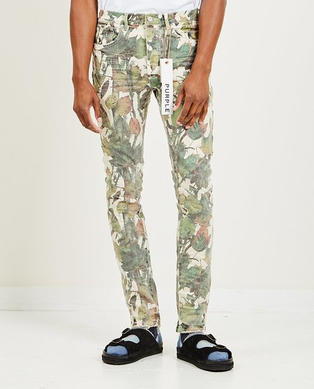 Purple Brand Slim Fit Jeans - Washed Camo Tan Snake