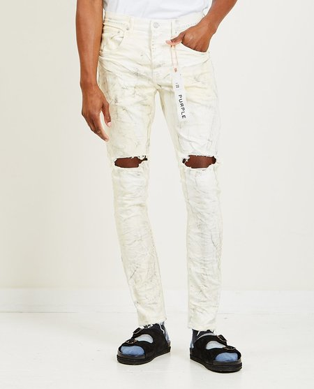Purple Brand Dropped Fit Jeans - White Dirty Resin Blow
